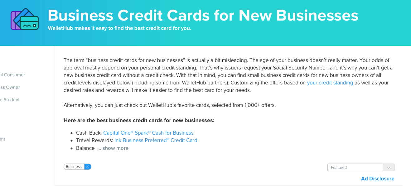 Business Credit Cards for New Businesses | Language of Business