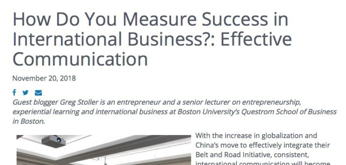 Latest Op Ed: How Do You Measure Success in International